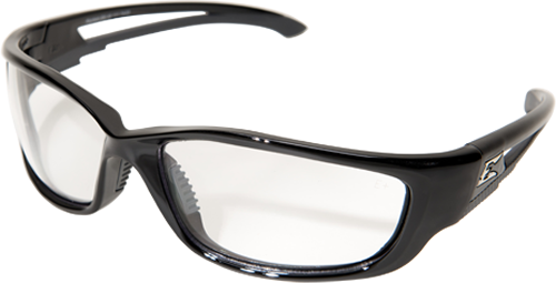 EDGE EYEWEAR - KAZBEK XL - SK-XL111VS - BLACK FRAME / CLEAR VAPOR SHIELD LENS