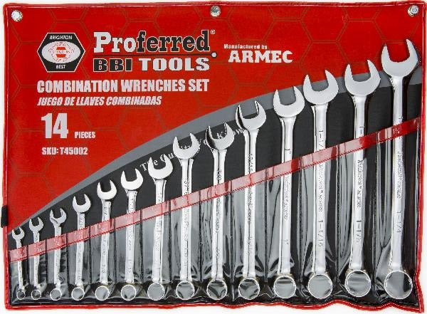 "PROFERRED T45002 - 14 PIECE (3/8""-1 1/4"") COMBINATION WRENCH SET"