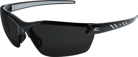EDGE EYEWEAR ZORGE G2 - TDZ216-2.0-G2 - BLACK FRAME - POLARIZED SMOKE 2.0 MAGNIFICATION LENS