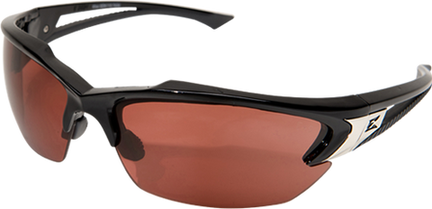 EDGE EYEWEAR KHOR - TSDK215 - BLACK FRAME - POLARIZED COPPER DRIVING LENS