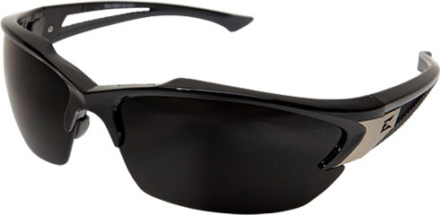 EDGE EYEWEAR KHOR - TSDK216 - BLACK FRAME - POLARIZED SMOKE LENS