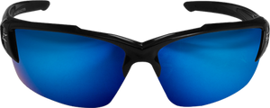 EDGE EYEWEAR KHOR G2 - TSDKAP218-G2 - BLACK FRAME - POLARIZED AQUA PRECISION BLUE MIRROR LENS