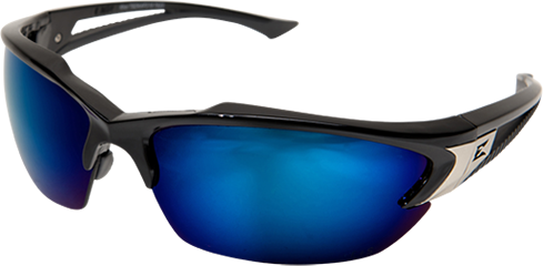 EDGE EYEWEAR KHOR - TSDKAP218 - BLACK FRAME - POLARIZED AQUA PRECISION BLUE MIRROR LENS