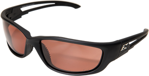 EDGE EYEWEAR KAZBEK XL - TSK-XL215 - BLACK FRAME - POLARIZED COPPER DRIVING LENS
