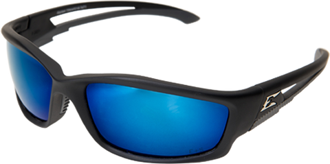 EDGE EYEWEAR KAZBEK - TSKAP218 - BLACK FRAME - POLARIZED AQUA PRECISION BLUE MIRROR LENS