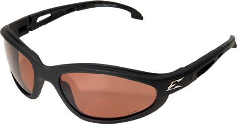 EDGE EYEWEAR DAKURA - TSM215 - BLACK FRAME - POLARIZED COPPER DRIVING LENS