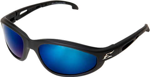 EDGE EYEWEAR DAKURA - TSMAP218 - BLACK FRAME - POLARIZED AQUA PRECISION BLUE MIRROR LENS