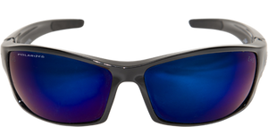 EDGE EYEWEAR RECLUS - TSRAP218 - BLACK FRAME - POLARIZED AQUA PRECISION BLUE MIRROR LENS