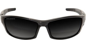 EDGE EYEWEAR RECLUS - TSRG216 - BLACK FRAME - POLARIZED GRADIENT SMOKE LENS