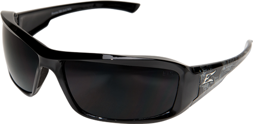 EDGE EYEWEAR BRAZEAU SKULL - TXB216-S - BLACK & GRAY WINGED SKULL FRAME - POLARIZED SMOKE LENS