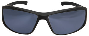 EDGE EYEWEAR BRAZEAU TORQUE - TXB23-G15-7 - MATTE BLACK FRAME WITH RED E LOGO / POLARIZED G-15 SILVER MIRROR LENSES
