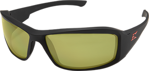 EDGE EYEWEAR BRAZEAU TORQUE - TXB232 - MATTE BLACK FRAME WITH RED E LOGO / POLARIZED YELLOW LENSES