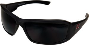 "EDGE EYEWEAR BRAZEAU TORQUE - TXB236 - MATTE BLACK FRAME - POLARIZED SMOKE LENS - CUSTOMIZABLE ""E"""