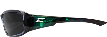 EDGE EYEWEAR BRAZEAU APOCALYPSE 1 - TXB216-A1 - BLACK & GREEN ENERGY CHARGE FRAME - POLARIZED SMOKE LENS