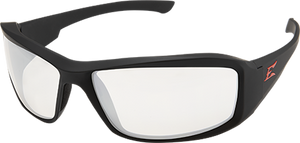 EDGE EYEWEAR - XB131VS - BRAZEAU TORQUE MATTE BLACK FRAME WITH RED E LOGO / CLEAR VAPOR SHIELD