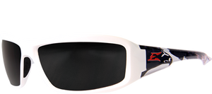 EDGE EYEWEAR BRAZAEU PATRIOT 2 - TXB246-P2 - WHITE & BLACK BALD EAGLE FRAME - POLARIZED SMOKE LENS