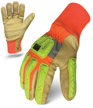 IRONCLAD EXO2-HVIP5 - EXO HI-VIZ INSULATED LEATHER GLOVE