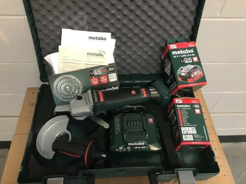 "Metabo WPB 18 LTX BL 150 18V 6"" Cordless Angle Grinder Kit 8.0 Batteries"