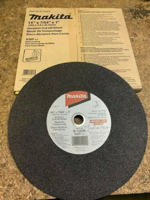 "Makita B-10849-5 14"" x 7/64"" x 1"" Abrasive Cut‑Off Wheel, 5/pk"
