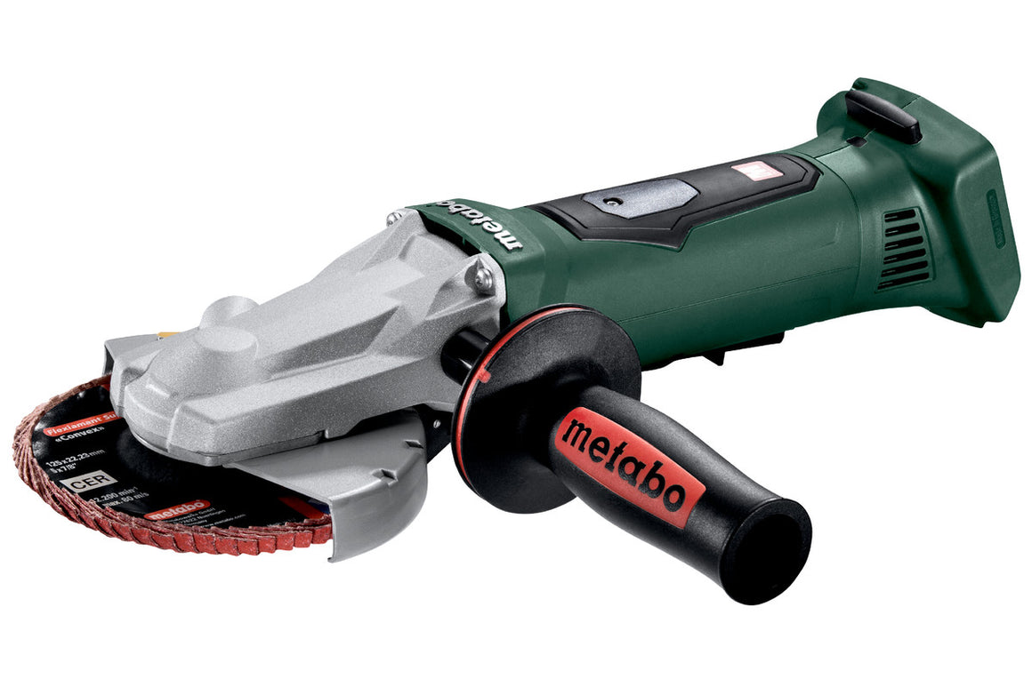 "METABO:  WPF 18 LTX 125 (613070860) 5"" CORDLESS FLAT HEAD ANGLE GRINDER (BARE TOOL ONLY!!)"