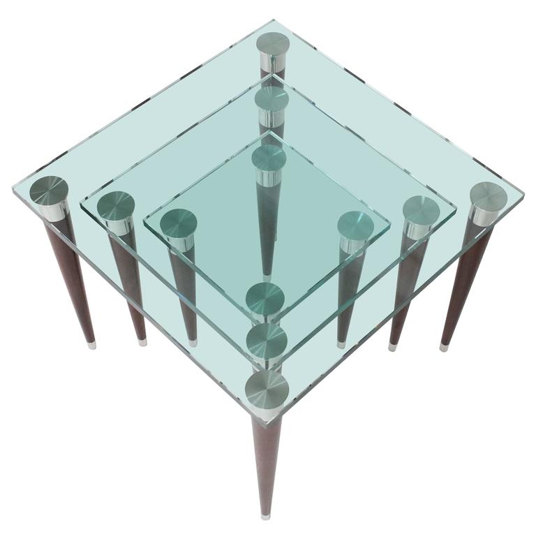 Mezzo Glass Nesting Tables