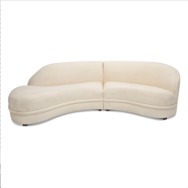 Ivory Serpentine Sectional by Maurice Villency
