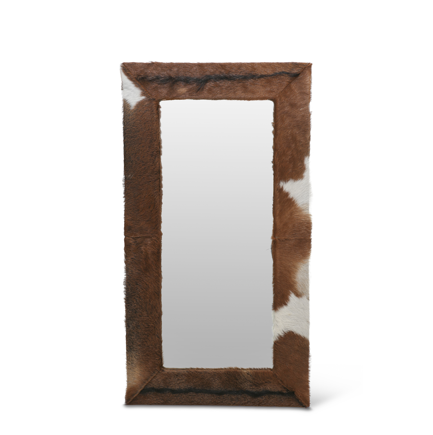 Natural Hide Framed Mirror