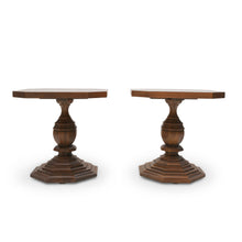 Load image into Gallery viewer, Gueridon Inlaid Walnut End Tables by Drexel