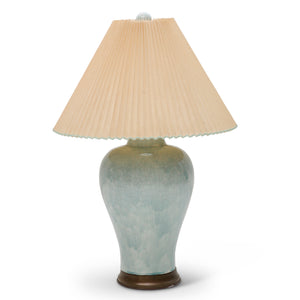 1950's Oversized Celadon Crackle Glazed Table Lamp