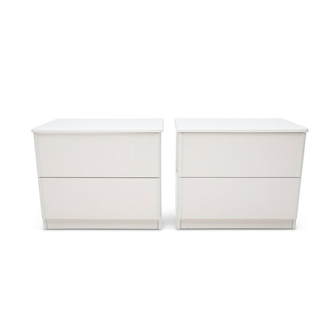 Italian Lacquered Nightstands