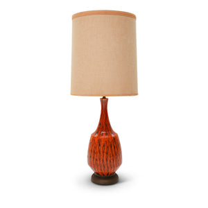 Oversized Ceramic Drip Glaze Lamp