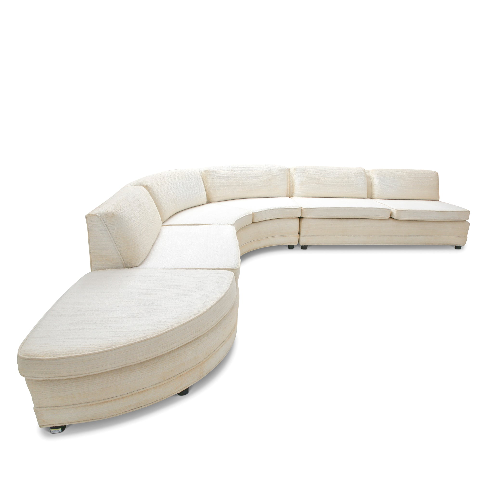 1950's Two Piece Serpentine Sectional