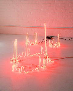 "Dace Sūna ""Vertical Fractal Neon Candles"" (2019)"