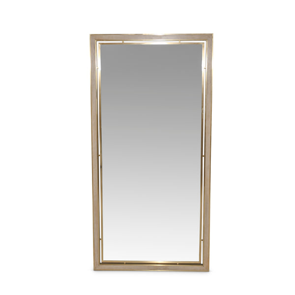 Inlaid Bronze Floor Mirror