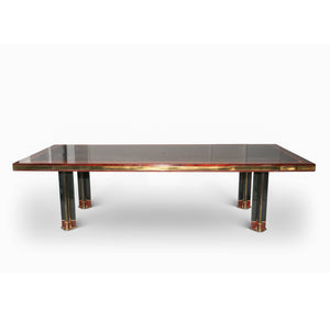 Monumental Inlaid Macassar Ebony Table by  Paolo Barracchia