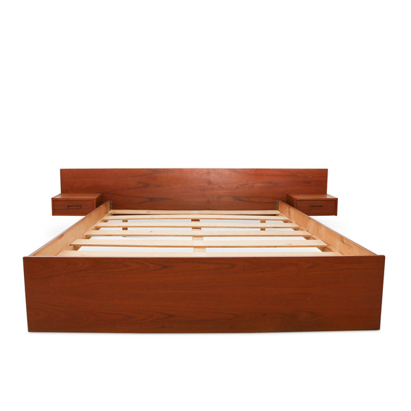 Queen Scandinavian Mid-Century Teak Bed