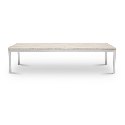Long Travertine Coffee Table