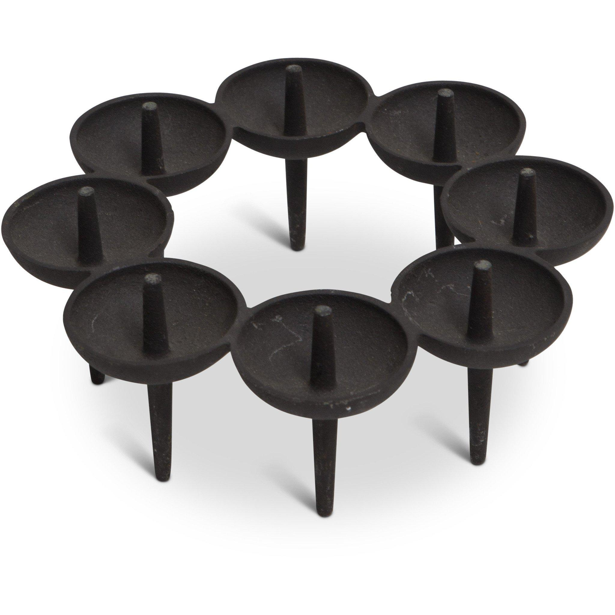 "Börge Rojalin for Dansk Cast Iron Candle Holder - ""Circlet"""