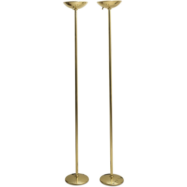 J. Mendizabal for Industria Argentina Brass Dome Floor Lamps