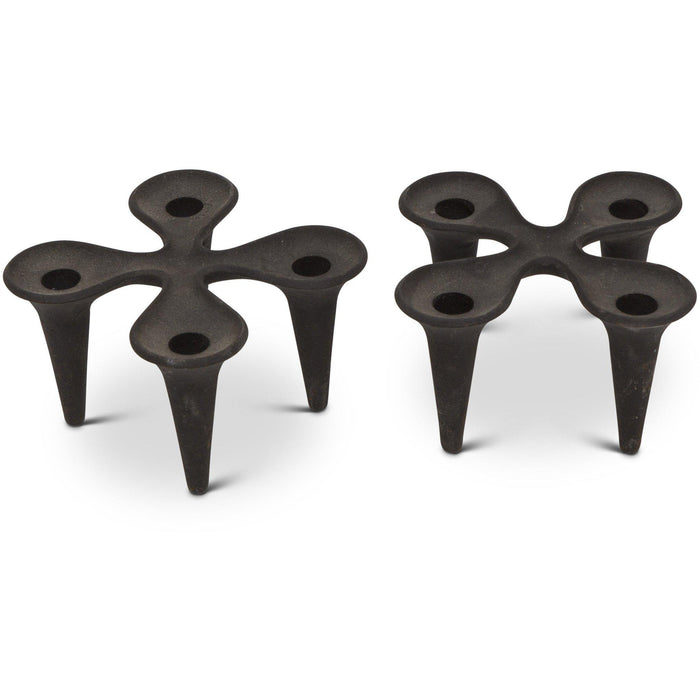 "Jens Quistgaard for Dansk Cast Iron Candle Holder - ""Clover"" (Pair)"
