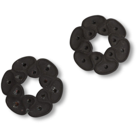"Jens Quistgaard for Dansk Cast Iron Candle Holder - ""Flower Petal"" (Pair)"