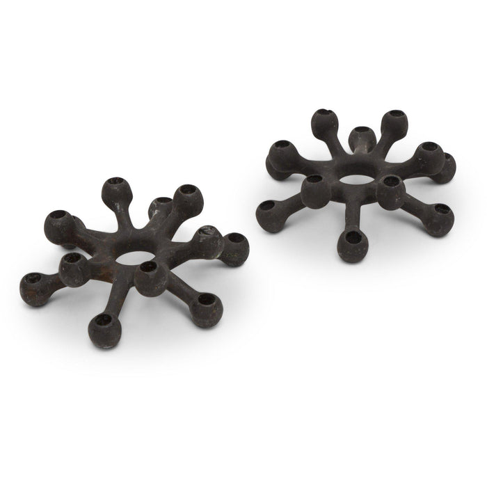 "Jens Quistgaard for Dansk Cast Iron Candle Holder - ""Spider"" (Pair)"