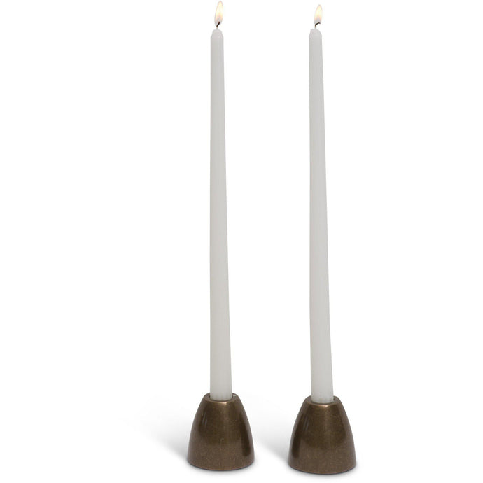"JT Gibson Cast Bronze ""Frieda"" Candle Holders"