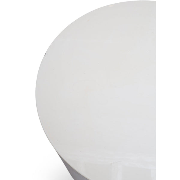 Lacquered Drum Shaped Pedestal