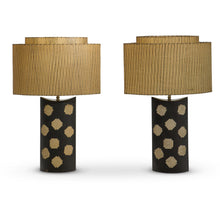 "Load image into Gallery viewer, Oversized Vintage Ceramic Table Lamps Marked ""LL"" (Pair)"