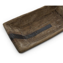 Load image into Gallery viewer, Primitive Wood Trencher Dough Bowl