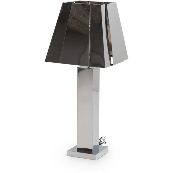 Sculptural 1970s Curtis Jere, Chrome Tall Table Lamp