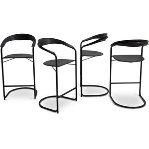 Set of Italian Leather Barstools in the style of Anton Lorenz for Thonet
