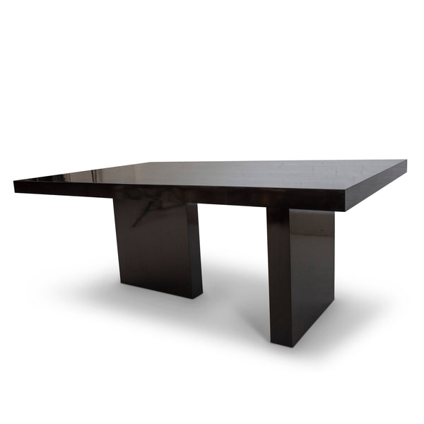 Black Lacquer Modernist Table
