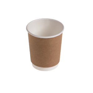 naturesse Kraft/PLA Kartonbecher Double Wall 200ml Ø8,0cm